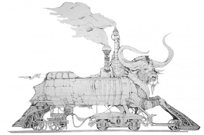 ©Wanda_Stang_the_Train_100cm_150cm_2013